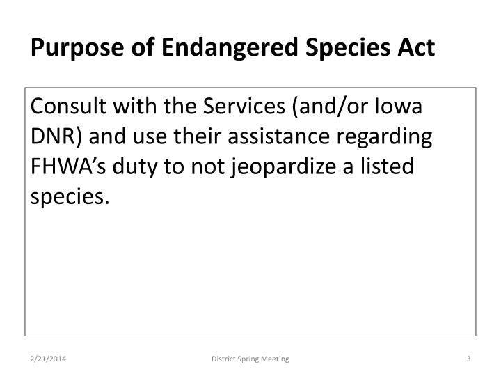 Purpose of endangered species act1