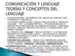 comunicaci n y lenguaje teor as y conceptos del lenguaje