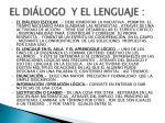 el di logo y el lenguaje