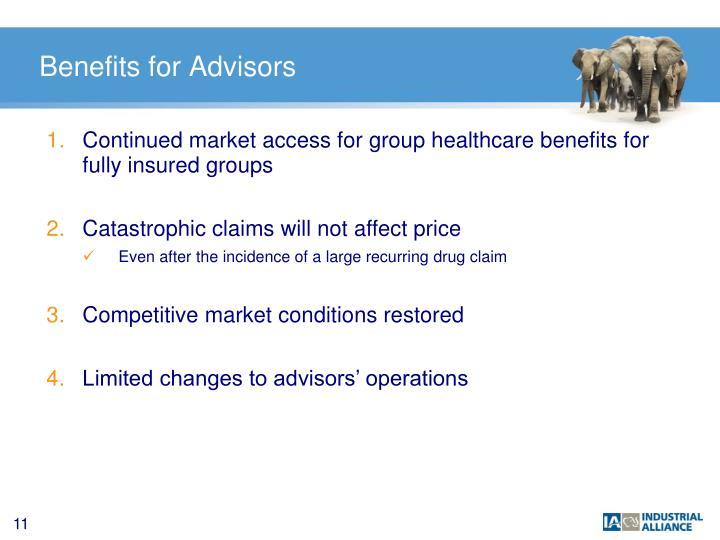 Benefits for Advisors