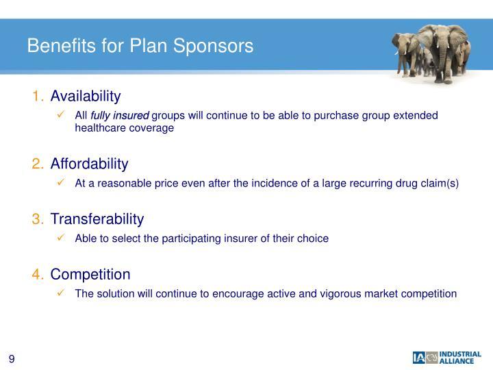 Benefits for Plan Sponsors