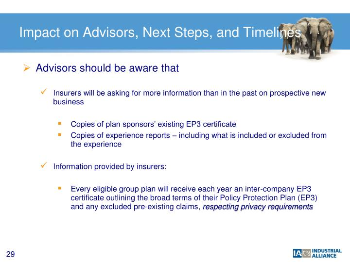 Impact on Advisors, Next Steps, and Timelines