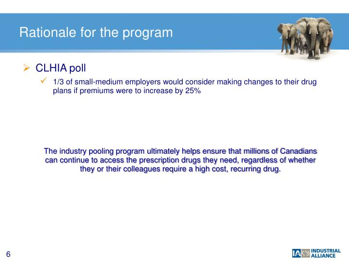 Rationale for the program
