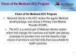 vision of the medicaid acc program