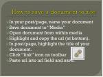 how to save a document to site