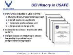 uei history in usafe