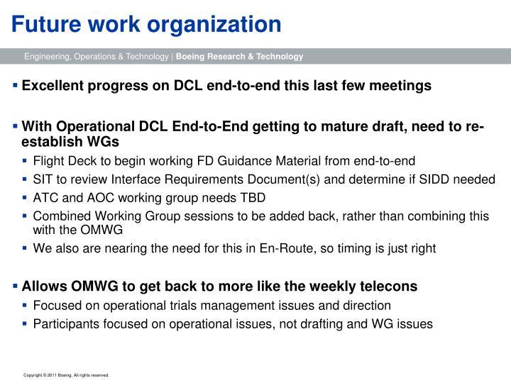 Future work organization