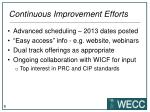 continuous improvement efforts