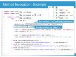 method invocation example