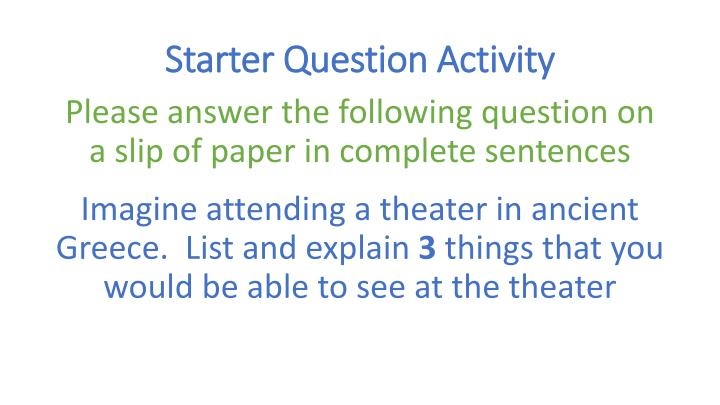 starter question activity n.