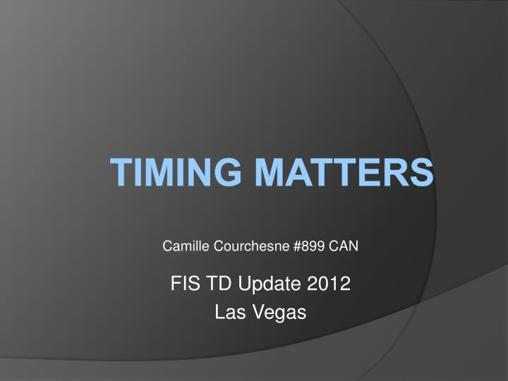 camille courchesne 899 can fis td update 2012 las vegas n.