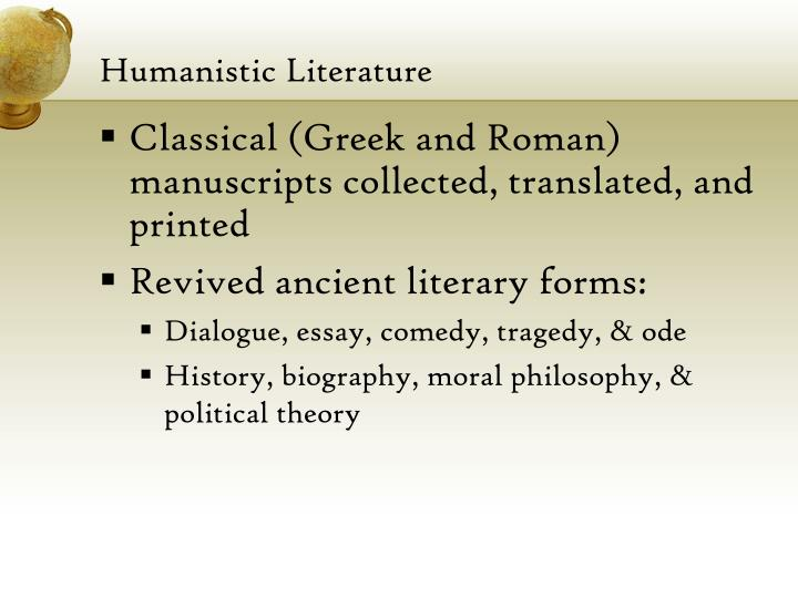 ppt the renaissance humanism powerpoint presentation id  humanistic literature