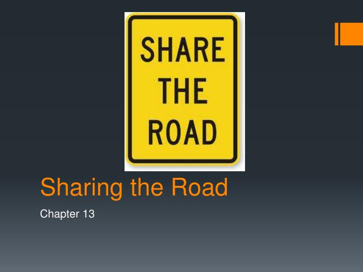 sharing the road n.
