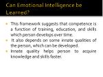 can emotional intelligence be learned2