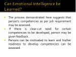 can emotional intelligence be learned4