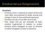 emotion versus temperament
