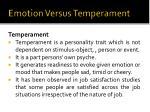 emotion versus temperament1