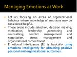 managing emotions at work
