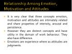 relationship among emotion motivation and attitudes1