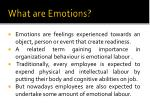 what are emotions1