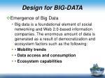 d esign for big data