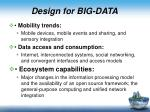 d esign for big data1