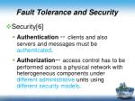 fault tolerance and security1