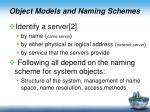 object models and naming schemes1