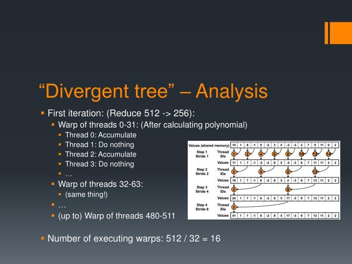 """Divergent tree"" – Analysis"