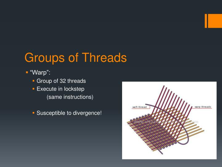 Groups of threads