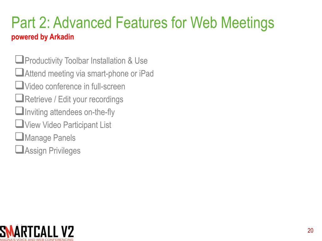 PPT - Magna Quick Start for WebEx PowerPoint Presentation