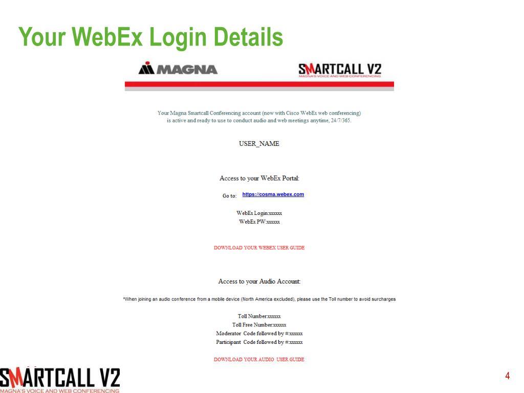 PPT - Magna Quick Start for WebEx PowerPoint Presentation - ID:2084537