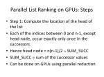 parallel list ranking on gpus steps