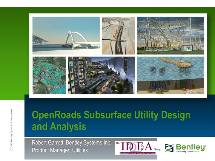 openroads subsurface utility design and analysis n.
