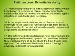 platinum level re write for clarity