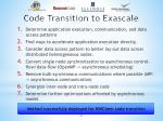code transition to exascale