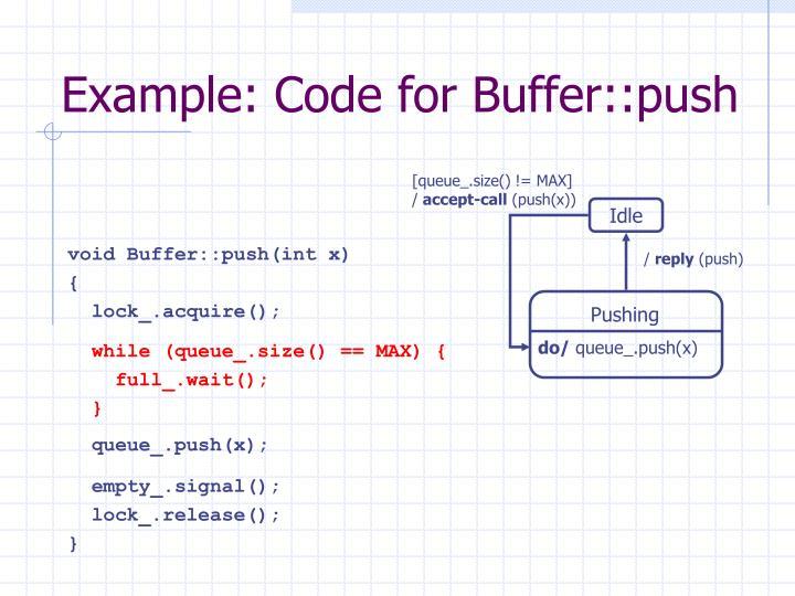 void Buffer::push(int x)