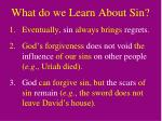 what do we learn about sin