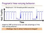 program s time varying behavior