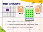 block granularity