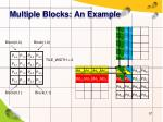 multiple blocks an example
