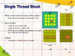 single thread block1