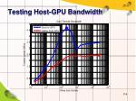 testing host gpu bandwidth1