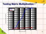 testing matrix multiplication1