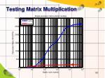 testing matrix multiplication2