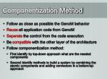 componentization method