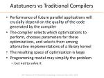 autotuners vs traditional compilers