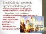 brasil col nia economia agroexportadora p 99