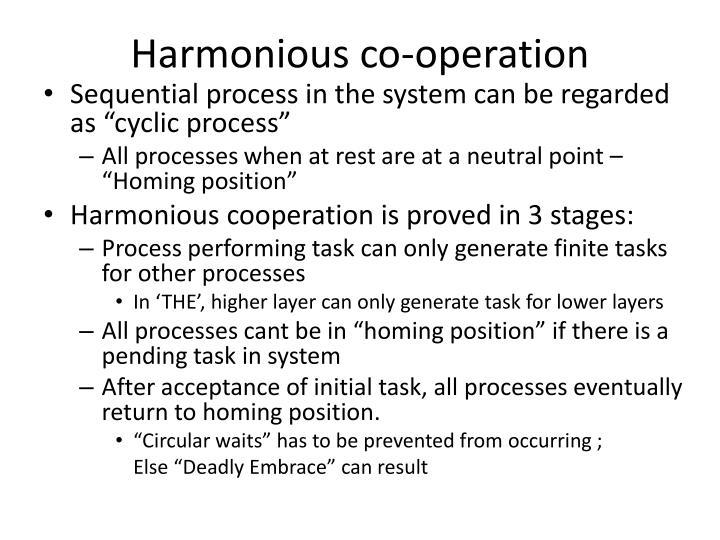 Harmonious co-operation
