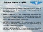 fatores humanos fh